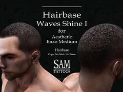 CARTEL [SAM TATTOOS] HAIRBASE ENZO MEDIUM WAVES SHINE I (Sam Tattoos) Tags: aesthetic hairbase enzo smith medium ebony sam tattoos wave shine type secondlife virtual world