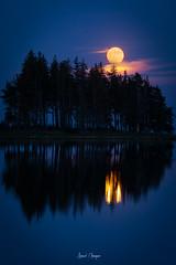Moonrise (Tekila63) Tags: moon lune moonrise fullmoon reflection serviere lake