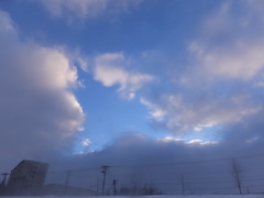Winter Sky (Human-Faced Bun w/ Honey Pudding) Tags: blue sky winter snowy snow day icy cloud
