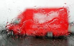 very red very rainy (kexi) Tags: iceland europe red car rainy rain canon may 2016 instantfave painterly