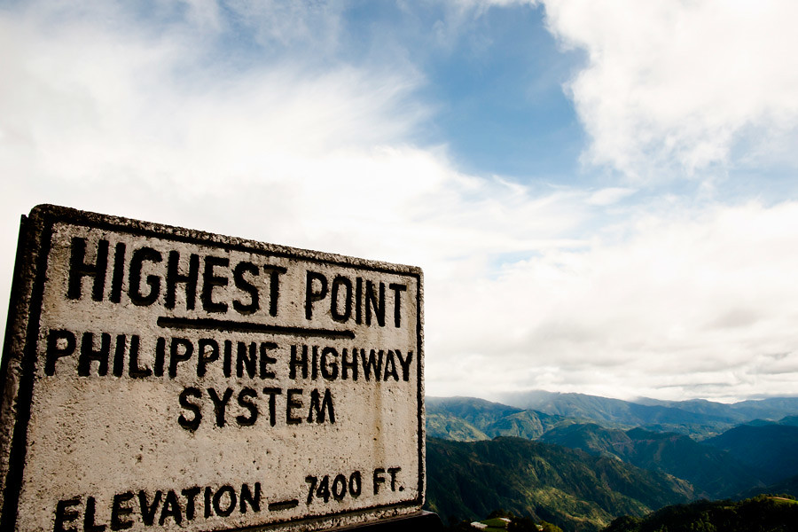 The highest point of the Halsema Highway in the Philippines
