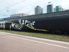 RACHE . KINS (mkorsakov) Tags: dortmund zug train ic intercity graffiti piece wholecar rache kins schwarz black