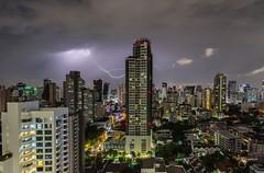 Springtime Thundersorms in Bangkok, Thailand (jennchanphotography) Tags: thunderstorm thunder lightning nature nightphotography night sky longexposure jennchanphotography thailand seasia southeast asia bangkok landscape cityscape buildings