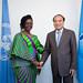 H.E. Ursula G. Owusu-Ekuful, Minister of Communications of Ghana and Houlin Zhao, Secretary-General, ITU.