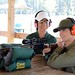Target shooting with a rifle