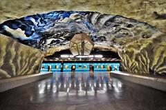 Tekniska Högskolan Metro Station _ Stockholm _ Sweden (hewraman) Tags: metro tunnelbanestation ubahn metroplolitano stockholm sweden sverige schweden suecia suède швеция 瑞典 சுவீடன் ruotsi ਸਵੀਡਨ スウェーデン שוודיה स्वीडन σουηδία švedska سوید zweden
