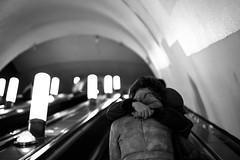 *** (Misha Sokolnikov) Tags: moscow russia metro subway underground escalator candid street streetphotography blackandwhite bw noiretblanc blancoynegro monochrome leica leicamonochrom leicamm 50mm aposummicron life hug