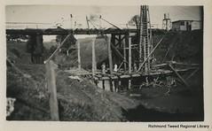 Springvale Bridge, September 1940 (RTRL) Tags: bridge bridgebuilding bridgeconstruction byronshire springvale