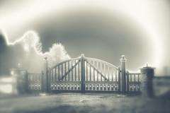 The Gate (Kevin_Jeffries) Tags: gateway gate art nikon d7100 nikkor kevinjeffries monochrome home fog mono outside bw design winter blackwhite ethereal conceptualphotography