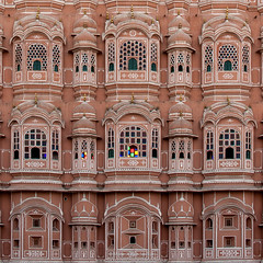 Hawa Mahal Jaipur Closeup I100 18mm f5.6 s200 -2/3EV AP Evaluative Metering SQ (mahesh.kondwilkar) Tags: 2009 hawamahal jaipur rajasthan ranthambhore incredibleindia india