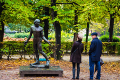what are you looking at? (ckollias) Tags: paris adult adultsonly day forest fulllength garden men muséerodin nature onlymen outdoors people rodinmuseum sculpture standing statue togetherness tree twopeople women youngadult