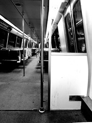solo_zzz (ras cop) Tags: solo alone train metro bw celly dc greenline subway sleep snooze