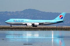 Korean Air 747 HL7638 at SFO (Ian E. Abbott) Tags: boeing7478b5 boeing7478 boeing747 boeing 7478b5 7478 747 60408 koreanairlines koreanair kal hl7638 sanfranciscointernationalairport sanfranciscoairport ksfo sfo