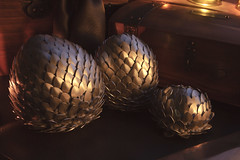 Dragon Eggs 9 (icantcu) Tags: lightpainting light painting lowlight low dark gothic medieval dragon egg scale theringlord knitting crafts diy hobby
