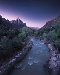 Watchman Twilight (bryanchong.photo) Tags: watchman twilight bridge virgin river zion national park nps stars night nightscape landscape outdoor utah sony a7rii 1635