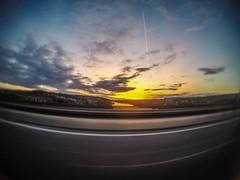 Sunset from the highway (Karlo Celcic) Tags: goprocro goprode goprohero5 goprohero landscape sunset deutschland autobahn highway gopro