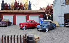 1940 Ford Deluxe Coupe & Convertible Coupe (JCarnutz) Tags: 124scale diecast danburymint 1940 ford deluxe