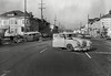 Ambulance accident circa 1957. 7th Street and MLK Jr. Way (Grove Street back then). Photo 2. (Radio Man Mike) Tags: oaklandpolice oaklandpd opd police cars car crash amulance