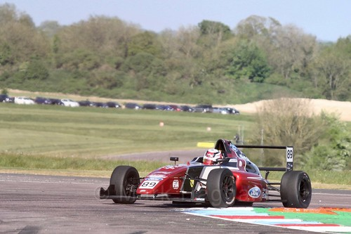 Jamie Sharp in British Formula Four at Thruxton, May 2017