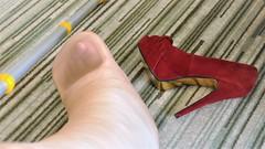 cast & heel (cast'n_heels) Tags: plastercast platform piedoplatre gipsbein slwc gehgips heel gesso highheel nylon