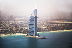 Burj Al Arab - Dubai (HarveyDxb) Tags: jumeirah beach hotel dubai uae gulf persian burjalarab foggy landscape sea luxury stars world tourism amazing helicopter tour seacoast architecture design