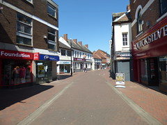 Lower Brook Street, Rugeley towards Costa Coffee (ell brown) Tags: rugeley staffordshire england unitedkingdom greatbritain cannockchase lowerbrookst shop shops costacoffee costa coffee quicksilver greggs britishheartfoundation bootsopticians savers