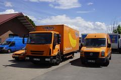 Iveco Eurocargo 75E16 E5 Lindchen met kenteken KLE-BL 295 en Volkswagen Crafter met kenteken KLE-BL 280 in Uedem-Keppeln 13-05-2017 (marcelwijers) Tags: iveco eurocargo 75e16 e5 lindchen met kenteken klebl 295 en volkswagen crafter 280 uedemkeppeln 13052017 truck trucks lkw vans van
