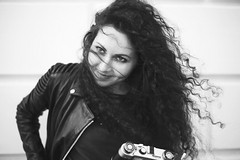 Lena (annabesko) Tags: woman portrait klimtvilla vienna wien girl curly hair bnw blackandwhite beauty beautiful instagram analog kamera
