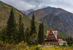 Ala-Archa (emilqazi) Tags: alaarcha national park kyrgyzstan central asia forest woods trees mountains landscape house building hotel travel bishkek