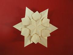 Estrella compleja hexagonal (Mélisande*) Tags: mélisande origami star hexagonal tomokofuse