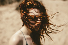 She Was Born Free... (Delissa McWilliams Photography) Tags: red hair portrait delissamcwilliamsphotography hope growth abstract camber sands beach traveller conceptual