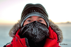 Icy Ian (wesleyramsey) Tags: antarctica ice frozen portrait face person male man eyes cold hemisphere southern parka red color