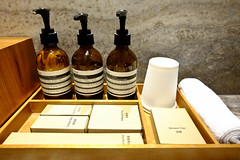 Toiletries (A. Wee) Tags: cathaypacific thepier firstclass airport lounge hkg hongkong 国泰航空 香港 机场 中国 china aesop toiletry amenity