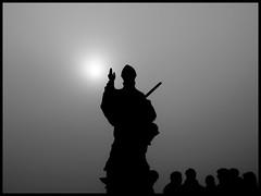 Prophecy (Armin Fuchs) Tags: arminfuchs würzburg fog altemainbrücke sun people silhouette
