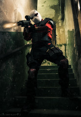 Deadshot - DSC8402_3_4-14 (cleansurf2 - Portrait portfolio) Tags: cosplay costume colour color character cinematography costuming cool cinematic drama dark disturbed deadly decay darkness darkdeviations demented deadshot portrait people light heroes comic movie