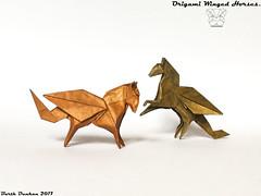 Origami Winged Horses - Barth Dunkan (Magic Fingaz) Tags: barthdunkan caballo cavallo cheval horse koń konj kuda ló paard pferd άλογο кінь лошадь घोड़ा ม้า 말 うま 马