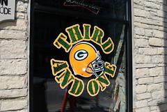 Third and One Bar, Fond du Lac, Wisconsin (Cragin Spring) Tags: wisconsin wi midwest bar tavern unitedstates usa unitedstatesofamerica thirdandone greenbay packers greenbaypackers nfl window fonddulac