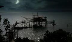 """""""Trabocco"""" in the moonlight (vittorio.chiampan) Tags: trabocco moon moonlight night sea seascape fineart"""