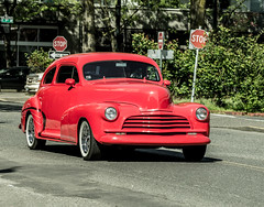 47 chevy Coupe. (Omygodtom) Tags: red car 47 chevy coupe nikon70300mmvrlens nikon portland oregon street
