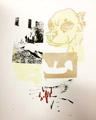IMG_8128 (Capybailey) Tags: drawing illustration screenprint print doggy vintage photo old