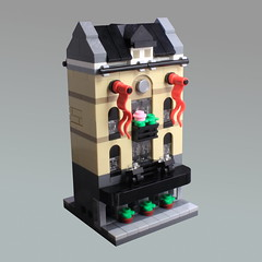 Mini Modular Hotel (O0ger) Tags: mini modular minimodulars lego moc hotel microscale