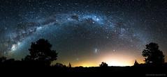 Milky Way Rainbow @ Criúva (Eduardo Bassotto) Tags: milkyway vialactea estrelas stars noite night tree arvore luzes lights criuva caxiasdosul brasil brazil nikon