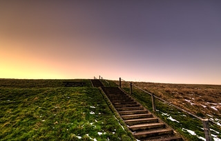 Stairway to a radiant sky.