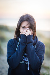 (BMéje) Tags: outside asian girl beautifull beautiful woman nice cute beach sun