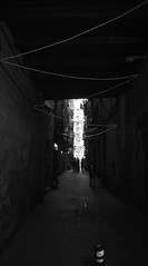 ZigZag (elgunto) Tags: street lights shadow dark highcontrast barcelona elborn silhouettes blackwhite bw sonya7 nikon2035 ai manuallense