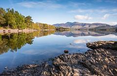 Peaceful - Derwent Water - Cumbria (99damo) Tags: cumbria cold lakedistrict cloud derwentwater d810 fells hawesend jetty keswick lake morning nikon rocks shore sun