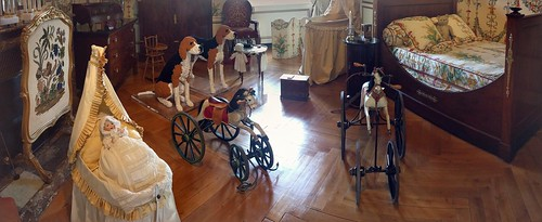 Panorama of the children's room at Chateau Cheverny