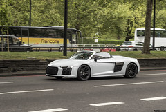 The new R8 V10 Spider (Photocutout) Tags: audi r8 v10 spider cars supercars sportscars convertible london parklane photocutout worldcars