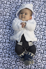 all rugged up and cosy (louisa_catlover) Tags: portrait family baby child daughter karwarra garden outdoor girl cute tabitha