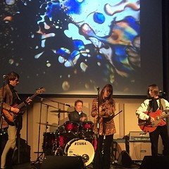 We started our tour off at Music In The Hall in Bewdley #uk #lightshow #mod #psychedelic #rock the audience was #amazing. #britpop #britishrock